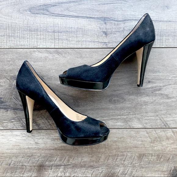 a15bac90fb Calvin Klein Shoes   Euc Black Peeptoe Heels   Poshmark